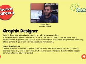 graphic designer text