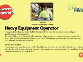 heavy equipment operator text
