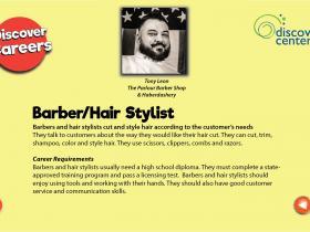 hair stylist-barber text