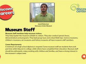museum staff text
