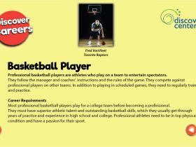 basketball player text